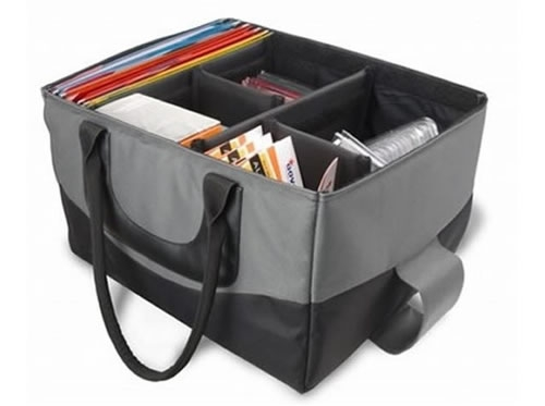 AutoExec File Tote Portable File Cabinet Bag